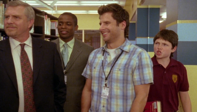 Reel Librarians | Screenshot of library scene in 'Psych' TV episode