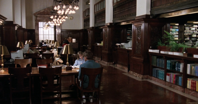 Interior shot for the library scene
