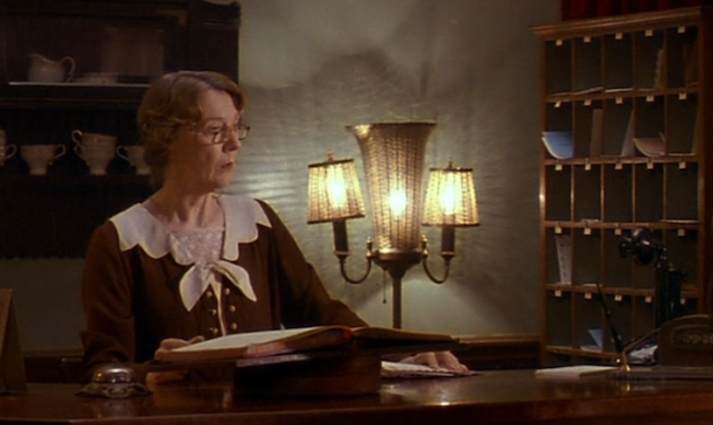 Eileen Atkins as the landlady, not the librarian