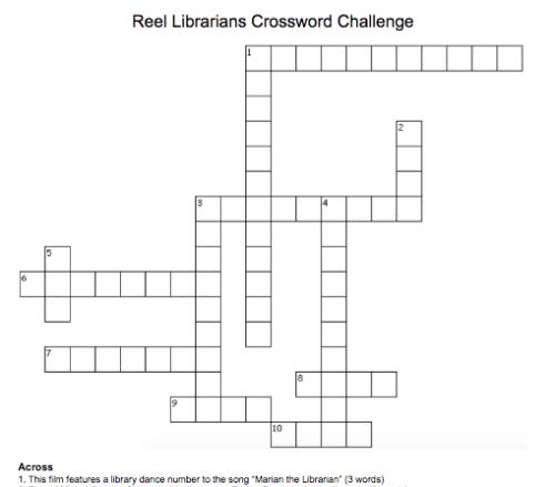 Reel Librarians Crossword Challenge
