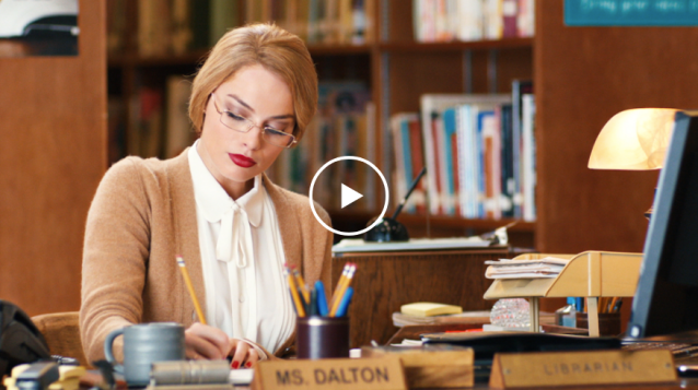 Margot Robbie as The Librarian in the 2016 SNL skit