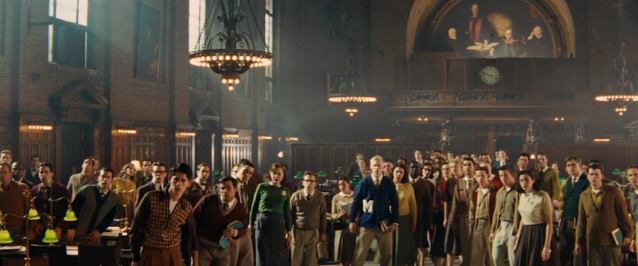 Extras in the library scene in Indiana Jones and the Crystal Skull (2008)