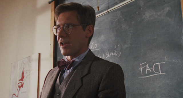 "Screenshot from the classroom scene in 'Indiana Jones and the Last Crusade"" (1989)"