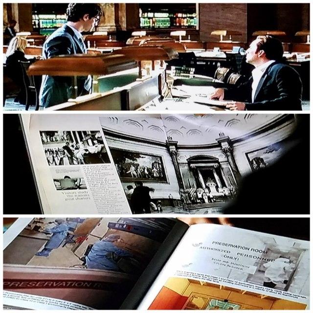 Screenshot collage from 'National Treasure' (2004)