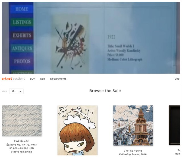 Then and now comparison of Art Net website
