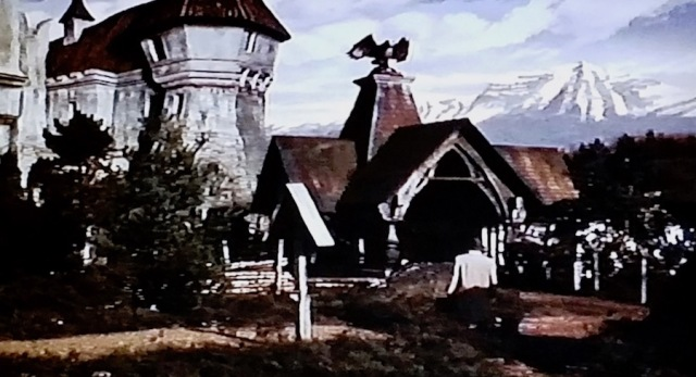 Count Dracula's castle in Horror of Dracula (1958)