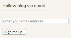 Follow blog via email screenshot