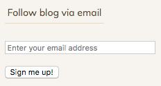 Follow blog via email screenshot