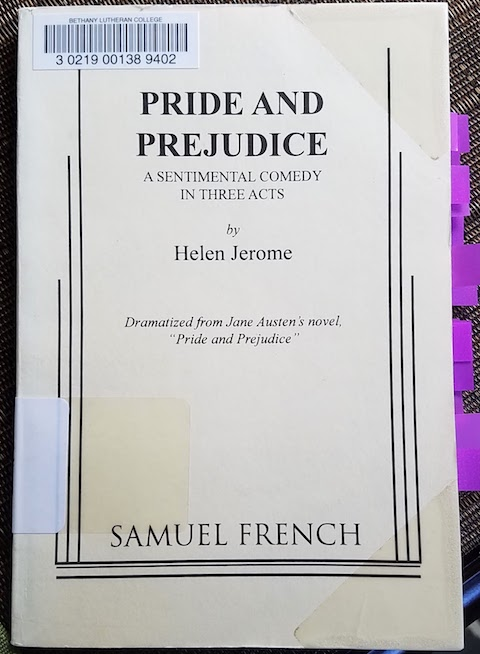 1934 Pride and Prejudice play