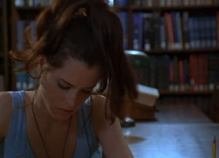 The end of the library science degree scene in Party Girl (1995)