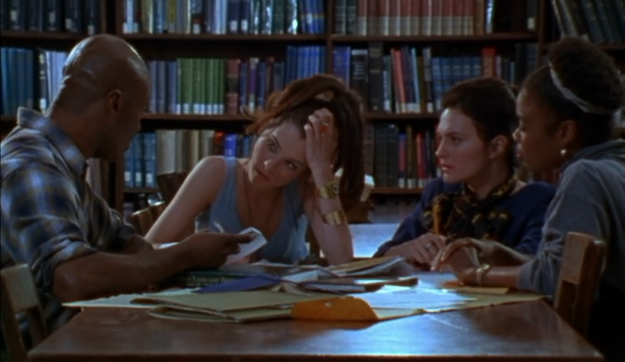 The beginning of the library science discussion scene in Party Girl (1995)