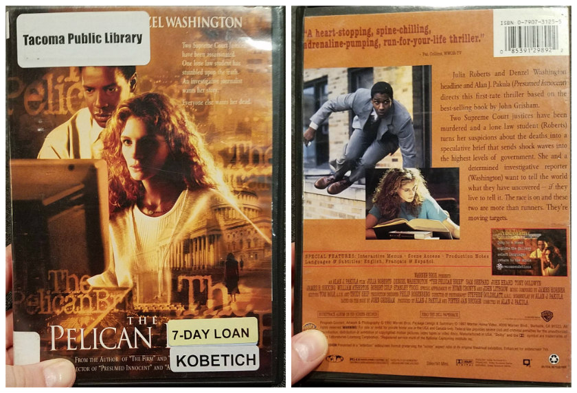 DVD covers for The Pelican Brief (1993)