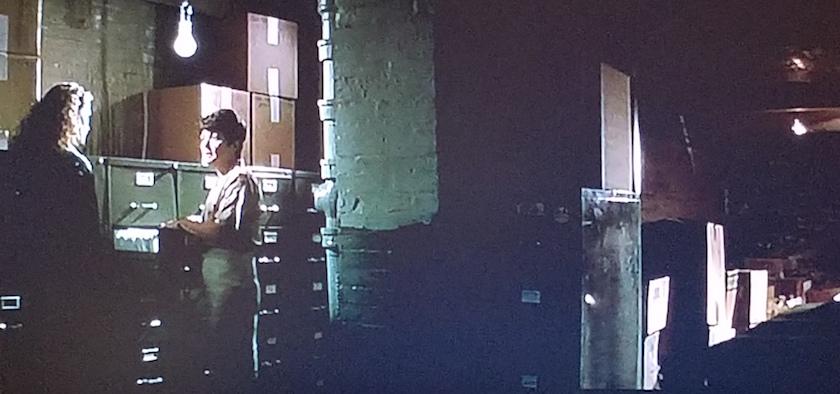 Records storage in The Pelican Brief (1993)