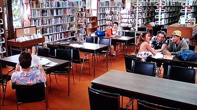 Wide shot of the school library in Summer School