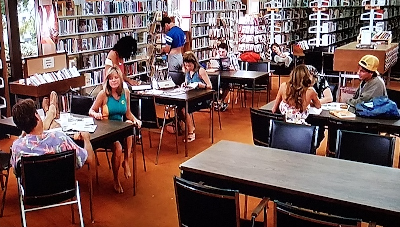 Shoop's students in the school library in Summer School