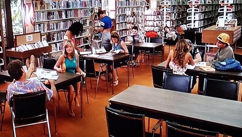 Shoop's students in the school library in Summer School