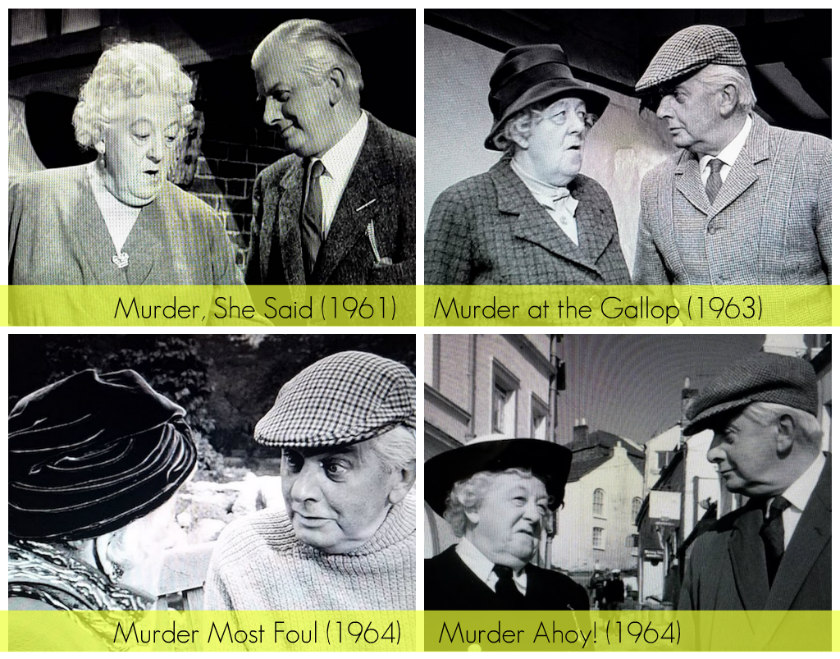 The look of love, a collage of Mr. Stringer's adoring looks at Miss Marple