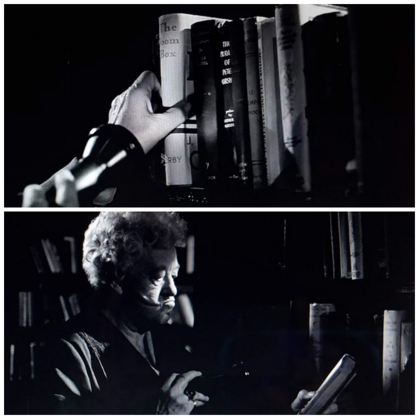 Miss Marple finds a copy of The Doom Box in the ship's library