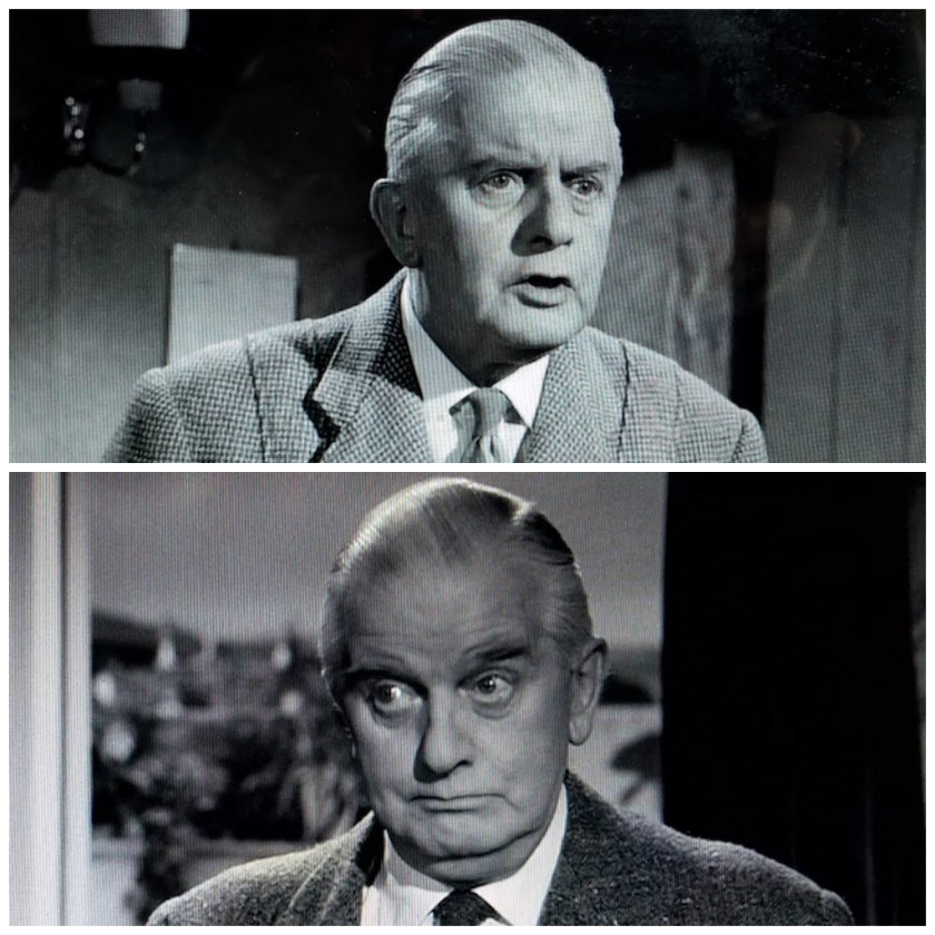 Facial expressions of concern from Mr. Stringer in Murder Ahoy! (1964)
