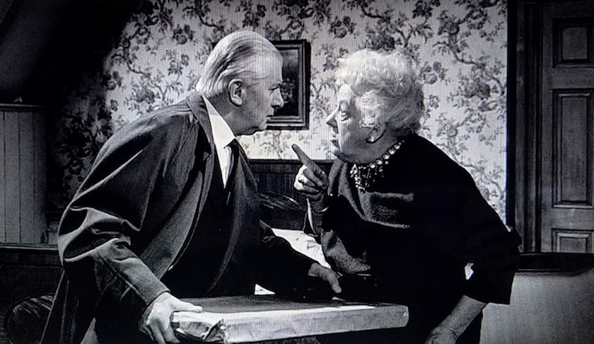 Mr. Stringer and Miss Marple plot together to advance the plot in Murder at the Gallop (1963)