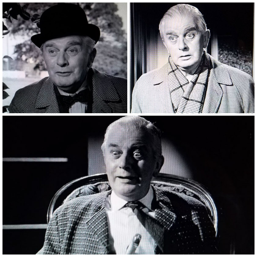 Collage of Mr. Stringer's facial expressions from Murder Most Foul (1964)