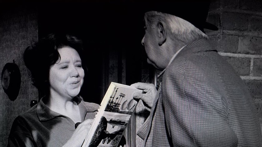 Reel librarian Mr. Stringer poses as a bookseller in Murder Most Foul (1964)