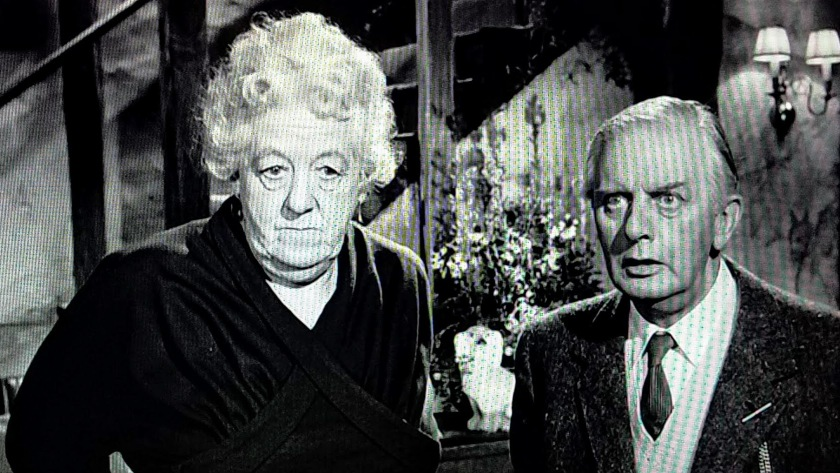 Miss Marple and Mr. Stringer react in different ways to Inspector Craddock's warning, in Murder She Said (1961)