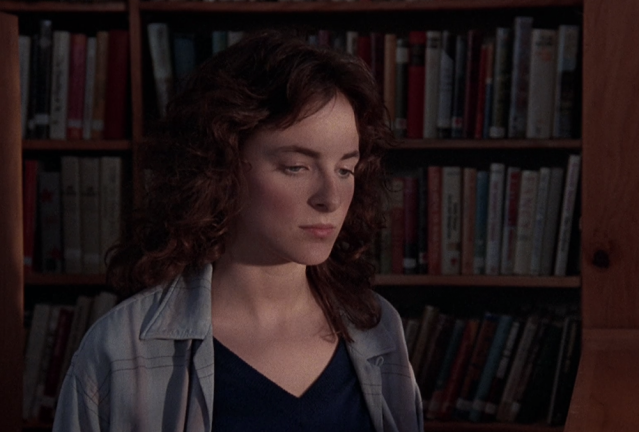 Closeup of call numbers on library books in this school library scene from Children of a Lesser God (1986)