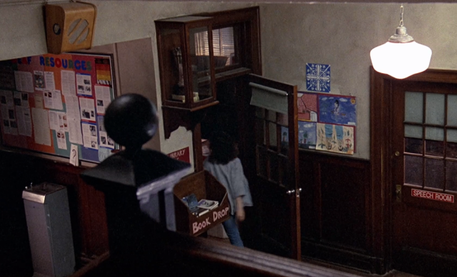 Sarah enters the school library in Children of a Lesser God (1986)