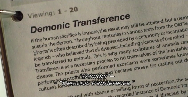 Research on demonic transference.